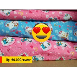 Sprei motif hello kitty